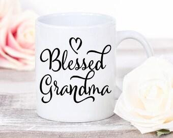 Blessed Grandma Mug - Grandmother Christmas Gift - Grandma Gift - Coffee Mug - Coffee Lover Gift - Ceramic Mug - Gift for Her - Coffee Cup