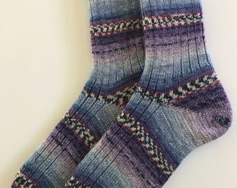"""Ladies' Wool Socks,  Knitted """"Opal Sweet and Spicy"""""""