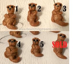 Miniature Handmade Otter - Choice of 1