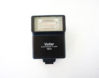 Vintage Vivitar 1900 Hot Shoe Flash  -  Working Film Tested