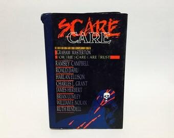 Vintage Horror Book Scare Care 1989 Hardcover Anthology