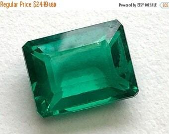 ON SALE 55% 15.4 CTW Green Hydro Quartz Emerald Cut stone, Loose Green Hydro Quartz, Green Ring Size Gemstone, 12x14mm - Ds275
