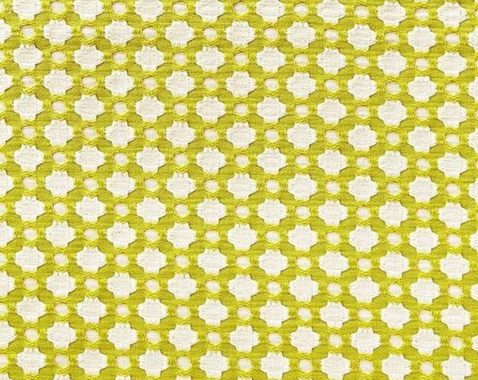 Schumacher Betwixt in Chartreuse Designer Pillow Cover - Both Sides or Front Only - Square, Euro and Lumbar Sizes
