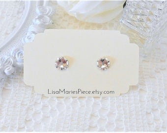 Swarovski Crystal Stud Earrings, Crystal Studs, Swarovski Crystal Earrings, Swarovski Studs, Post Earrings, Bridesmaid Earrings, Unisex