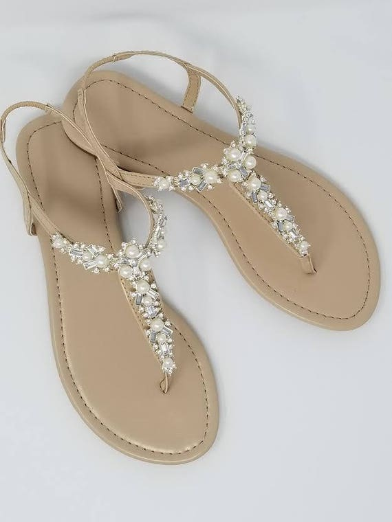 ivory wedding sandals with pearls and crystals ivory bridal. Black Bedroom Furniture Sets. Home Design Ideas