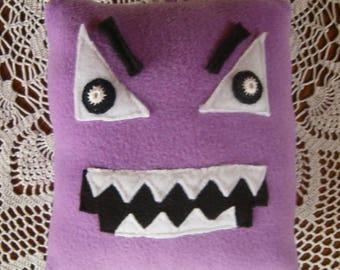 Handmade soft toy the square Shape Hanger, large, safe for all ages, inspired by the Numberjacks characters.