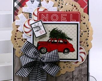 Noel Christmas Greeting Card Polly's Paper Studio Handmade