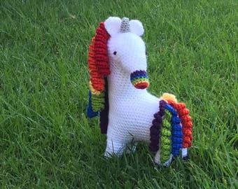 Crochet Rainbow Unicorn