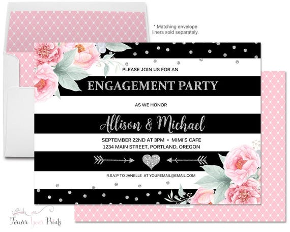 Couples Bridal Shower Invitations - Shower The Couple Invites - Coed Bridal Shower Invites - Couples Wedding Shower - Couples Engagement