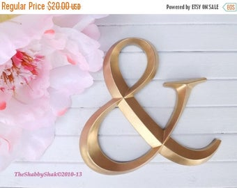 ON SALE Ampersand Sign / Gold / Large Wall Ampersand / Photo Prop / Wedding Decor / Wall Decor / Shabby Chic Decor
