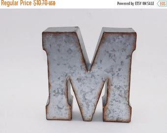 ON SALE Metal Letter / Metal Letter M / Shelf Letter / Wall Metal Letter