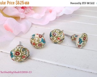 ON SALE Paisley /Floral / Colorful / Ceramic Knob / Dresser Pull / Cabinet Knob / Decorative Knob