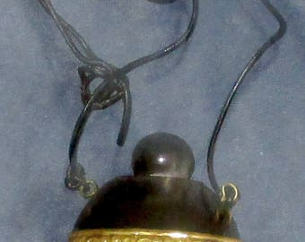 Pendant screw top container animal horn