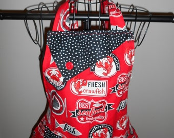 Fresh Seafood/Crawfish Women's Apron