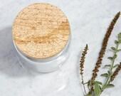Maple Wood + Glass Jar