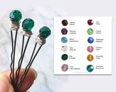 Bobby Pins Swarovski Crystal Decorative Hair Pins Made to Order