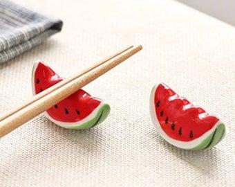 Watermelon Ceramic Chopstick Rest Chopstick Holder Spoon Rest Utensil Holder