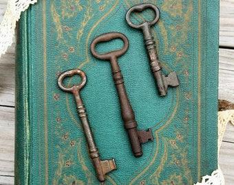 Antique Skeleton Keys - Set of 3 Heavy Weight Antique Keys