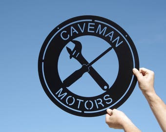 Custom Round Garage Tool Sign