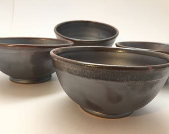Grey Soup Bowls, Set of 4
