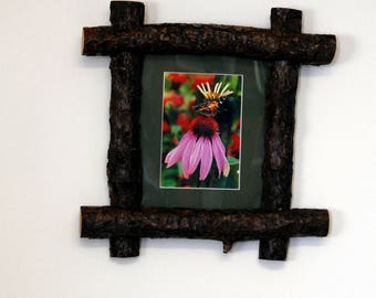 Hand crafted wood frame with photographers print