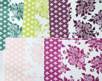 Stampin' Up! Fresh Florals Designer Series Paper DSP Sampler 6 x 6 Sheets Double-Sided In Colors 2017-2018