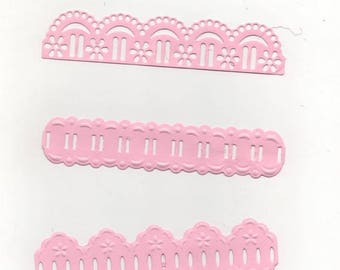 74 - Set of 3 ornaments for your cards or scrapbooking