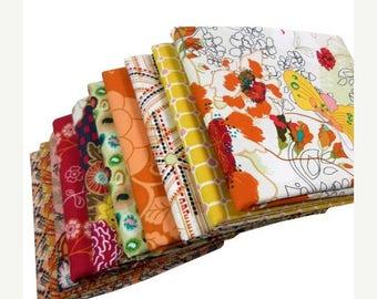 SALE 10% Off - INDIE - Art Gallery Fabrics - FAT Quarter Bundle - Sunlight Bazaar 10 pcs