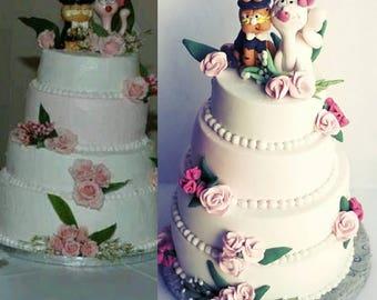 Wedding cake replica st anniversary gift wedding cake