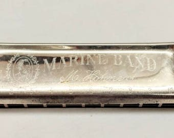 Vintage M. Hohner Marine Band Harmonica from Germany, Key C. 1881 Beautiful Sound Ref 19158