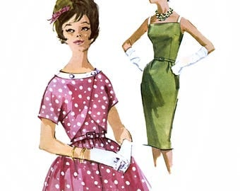 McCall's 6185 Vintage 60s Sewing Pattern for Misses' Dress and Jacket - Uncut - Size 12 - Bust 32