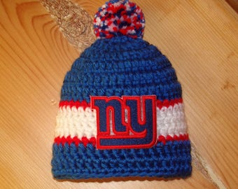 Giants Baby hat for Newborn to 18 months - New York team colors