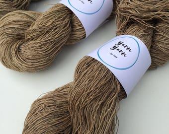 Nettle yarn, 500g, organic nettle yarn, handspun yarn, fiber arts, knitting, exfoliating pads, crochet, weaving , basketry and more.
