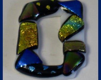 Genuine Dichroic Glass Fused Pendant