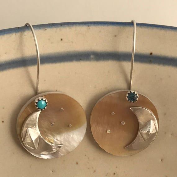Moon at Dusk- Shell earrings