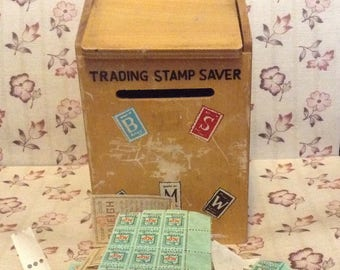 Vintage, Trading Stamp Saver Box, Wooden