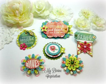 Authentique Utopia Handmade Paper Hearts and Paper Embellishments  and Paper Hearts for Scrapbooking Cards Mini Albums Tags Paper Crafts