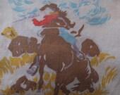 Vintage Old West Western Cowboy Shootout Stagecoach Steam Engine Farmhouse Soft Cotton Pillowcase