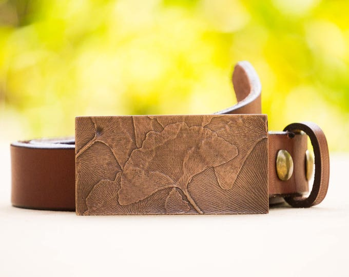 "Ginko 1.5"" Bronze Belt Buckle"