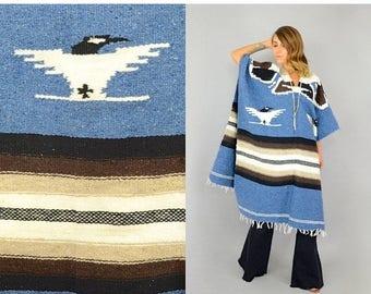 SUMMER SALE 70's Thunderbird Blanket Poncho