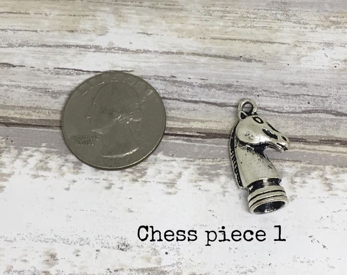 Chess charm necklace