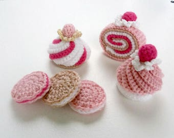 Crochet cupcakes, Amigurumi cupcakes, crochet food, Handmade cupcakes, , Knitted decoration, Cupcakes, Ready to ship