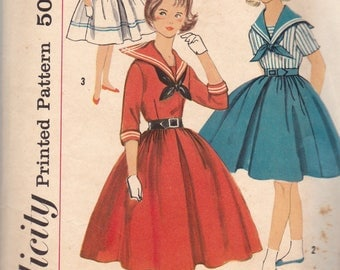 Vintage 1950s Sewing Pattern, Vintage Lot of 1950s womens Dress Patterns