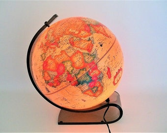 Vintage Illuminated World Globe  - Made in Denmark - Stunning MCM Design