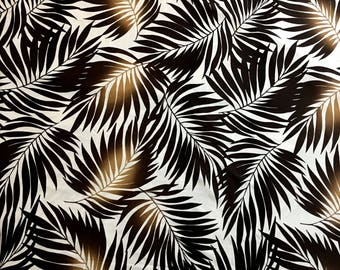 Lycra Fabric Remnant Hawaiian Leaves Floral Print Lycra Swimwear Fabric Crafts Sewing YR60A
