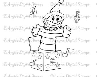 Jack in the Box Digital Stamp Image