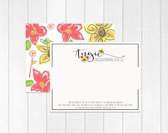 Custom Stationary | Custom Stationery with Bible Verse | Notecard set | Personalized Thank You Notes | Christian Note Cards | Religious