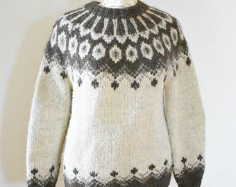 Vintage Fair Isle sweater - handmade vintage wool sweater
