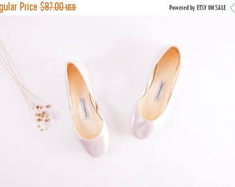 The Bridal Ballet Flats | Wedding Shoes in White Rose