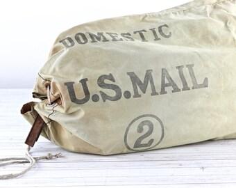 Vintage Mail Bag US Postal Mail Bag USPS Mail Bag Vintage Mail Bag Industrial Old Mail Bag